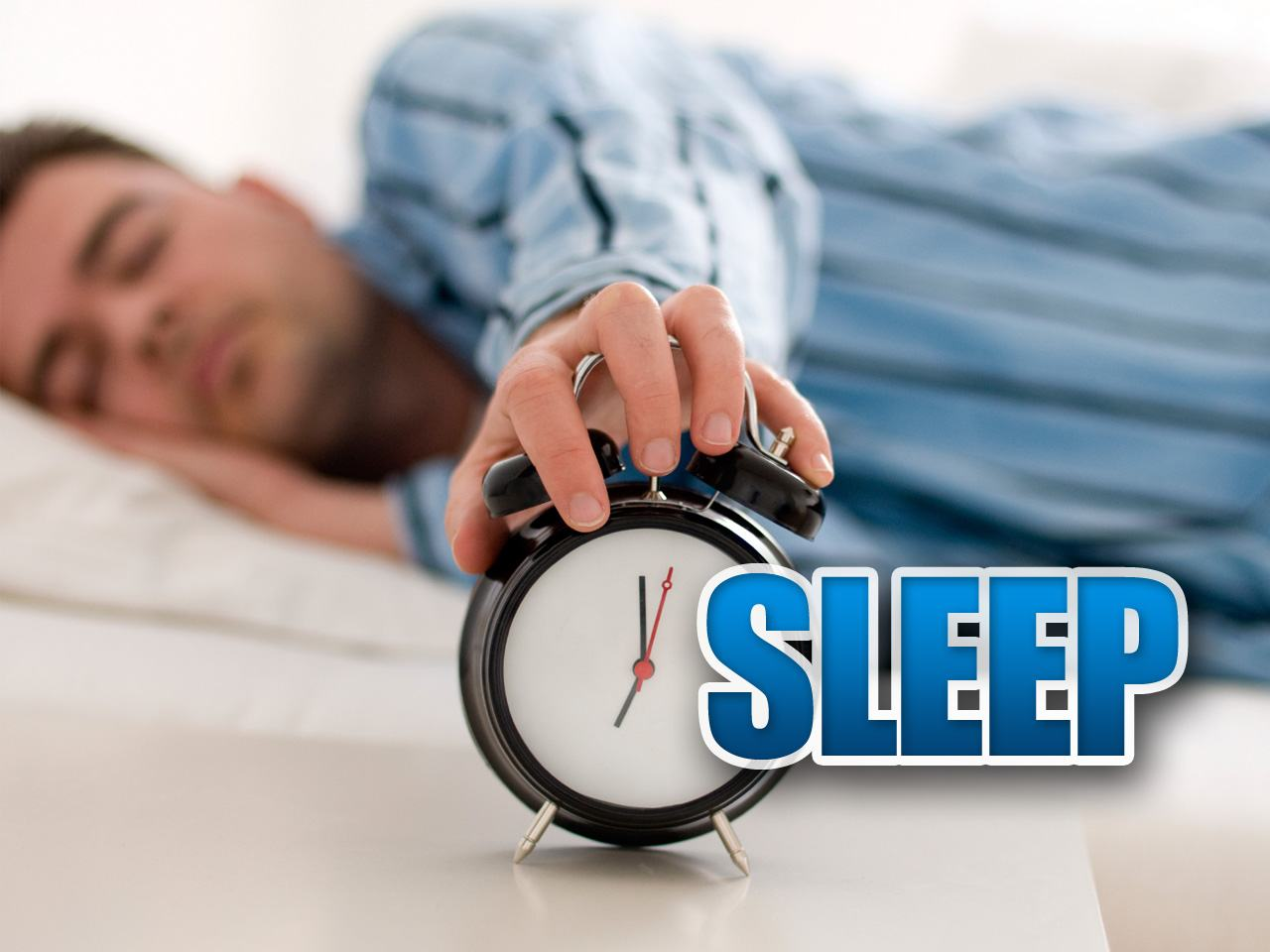 Slaap uit na late avondtraining