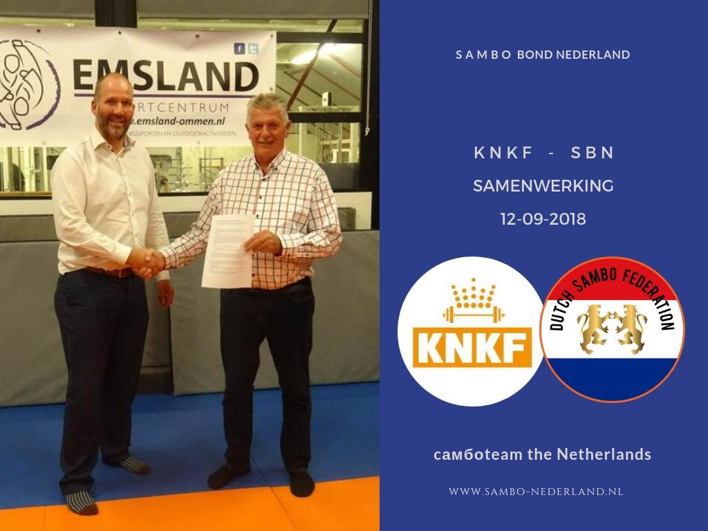 Sambo Bond Nederland en de Koninklijke Nederlandse Krachtsport en Fitnessbond slaan de handen in elkaar.